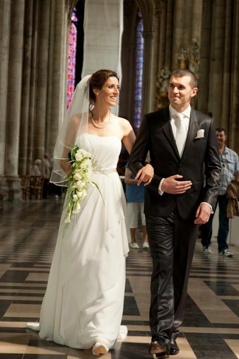 sortie des mariés cathédrale Amiens