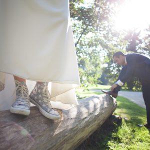Jeu de chaussures des mariés