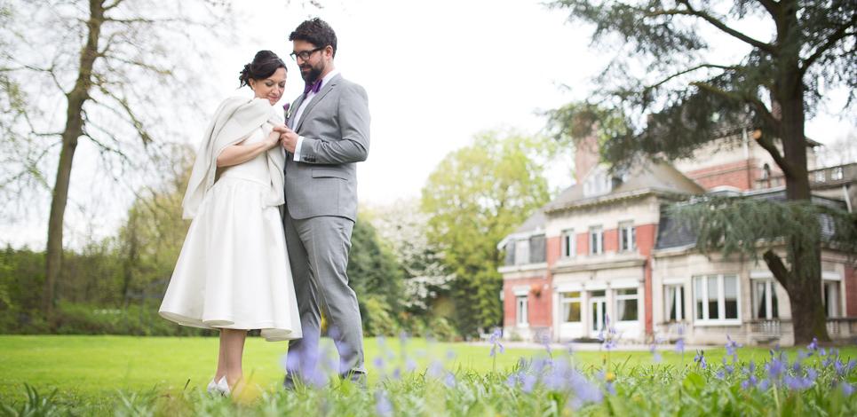 Couple mariés Manoir